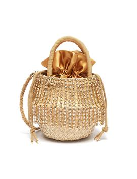 'luxury Nina' Small Glass Crystal Fringe Basket Bag by Le NinÈ