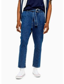 Indigo Belted Chinos by Topman