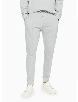 Grey Twill Zip Joggers by Topman