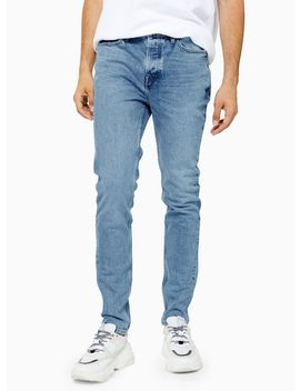 Light Wash Authentic Stretch Skinny Jeans by Topman