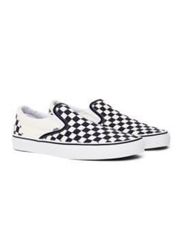 Slip On Plimsolls Black &Amp; White Check by Vans