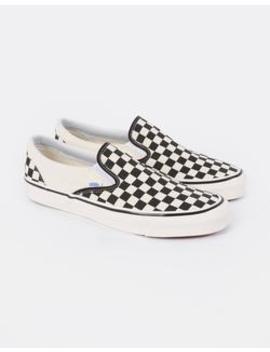 Classic Slip On 98 Dx Anaheim Checkerboard Black &Amp; White by Vans