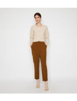 Front Pleat Peg Trousers by Warehouse