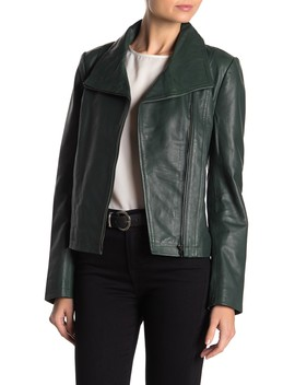 Envelope Leather Jacket by Badgley Mischka