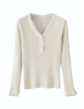'danielle' Lace Thermal Top by Goodnight Macaroon