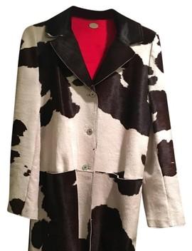 Multicolor Calf Hair Cow Print Coat by Fendi
