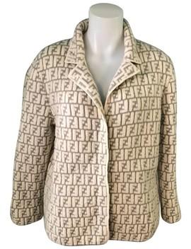 Rare Zucca Print Beige Jacket by Fendi