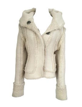 White Wool Bomber Jacket Blazer by Dior