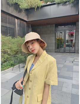 Short Sleeve Peaked Lapel Jacket by Stylenanda