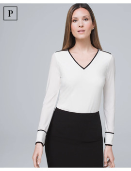 Petite Piped Blouse by Whbm