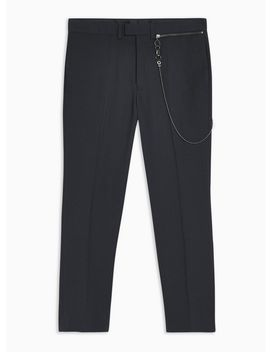 Charcoal Check Skinny Pants With Chain by Topman