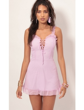 Day Party Mini Dress In Lilac by Lucy In The Sky