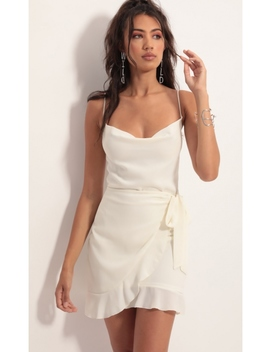 Positano Chiffon Tie Dress In Ivory by Lucy In The Sky