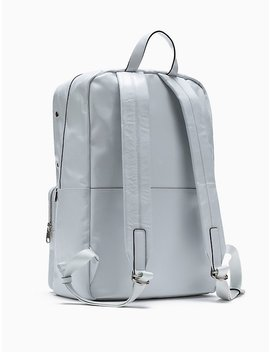 Paper Leather Slim Backpack by Calvin Klein
