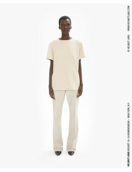 Contrast Stitch Detail Tee by Helmut Lang