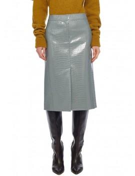 Croc Embossed Patent Trouser Skirt by Tibi