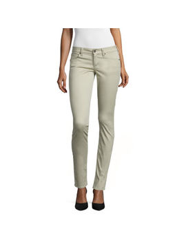 Arizona Sateen Womens Low Rise Slim Pant Juniors by Arizona