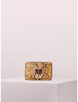 Nicola Snake Embossed Twistlock Small Convertible Chain Shoulder Bag by Kate Spade