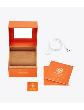 Gigi Touchscreen Smartwatch, Black Tone Stainless Steel, 40 Mm by Tory Burch
