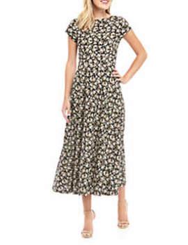 Harlowe Ditsy Short Sleeve Midi Dress by Chaps
