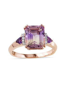 Genuine Ametrine Amethyst And Diamond Accent Ring by Fine Jewelry