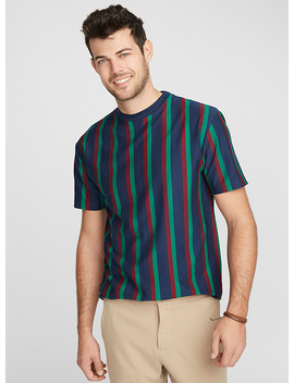 Vertical Twin Stripe T Shirt by Le 31