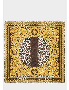 Wild Barocco Print Scarf by Versace