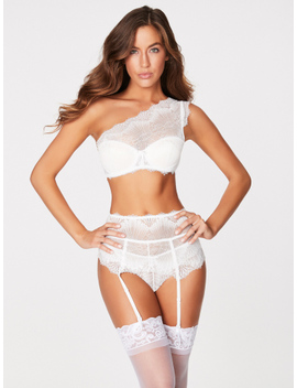 Leia Scalloped Lace Bridal Push Up Bra by Frederick's Of Hollywood
