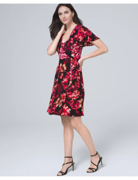 Convertible Floral Faux Wrap Dress by Whbm
