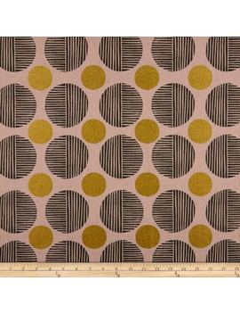 Cotton + Steel Imagined Landscapes Stone Path Canvas Metallic Rose Gold Fabric by Fabric