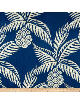 Duralee Pina Pineapple Navy Fabric by Fabric