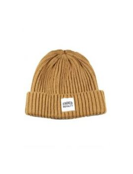 Tan Woven Beanie by Faded Royalty