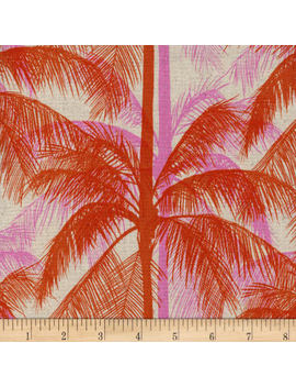 Cotton + Steel Canvas Poolside Palms Pink Fabric by Fabric