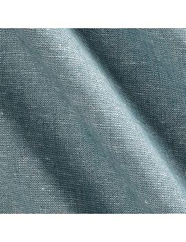 Kaufman Essex Yarn Dyed Linen Blend Metallic Water Fabric by Fabric