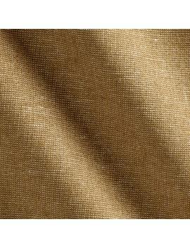 Kaufman Essex Yarn Dyed Linen Blend Metallic Camel Fabric by Fabric