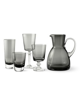 Williams Sonoma Smoke Grey Glassware Collection by Williams   Sonoma
