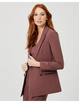 Double Weave Tailored Fit Blazer by Le Chateau