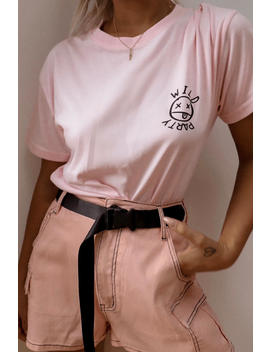 lottie-tomlinson-pink-dance-oversized-t-shirt by in-the-style