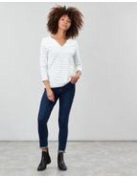Harbour Notch Neck Jersey Top by Joules