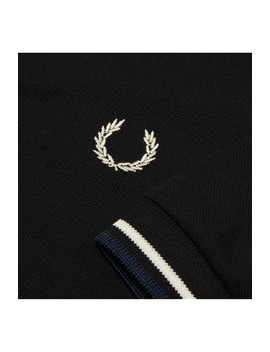 Laurel Wreath Abstract Sleeve Piqué Polo Shirt by Fred Perry