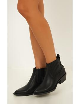 Verali   Terry Boots In Black by Showpo Fashion