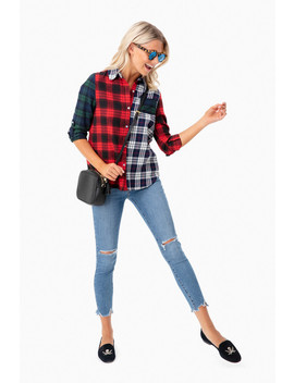 Mixed Plaid Button Down by After Market