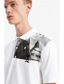 Raf Simons Shoulder Print Piqué Shirt by Fred Perry