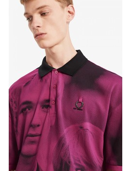 Raf Simons Oversized Digital Print Piqué Shirt by Fred Perry