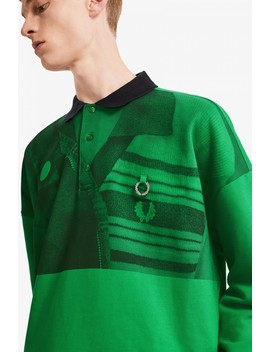 Raf Simons Printed Brushed Back Polo Shirt by Fred Perry
