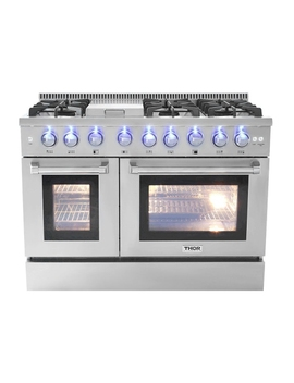 Thor Kitchen 48″ 6 Burner Stainless Steel Professional Gas Range   Hrg4808 U With 2 Year Warranty On Parts And Labor by Best Buy