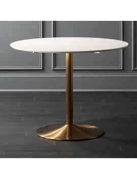 Odyssey Brass Dining Table by Crate&Barrel