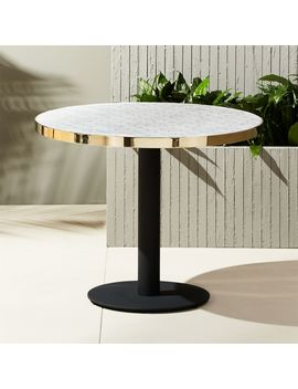 Marble Outdoor Bistro Table by Crate&Barrel