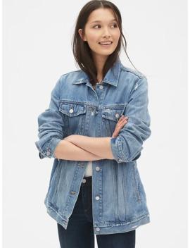Distressed Oversized Icon Denim Jacket by Gap