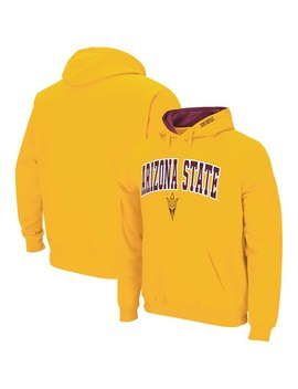 Arizona State Sun Devils Colosseum Arch & Logo Pullover Hoodie   Gold by Colosseum